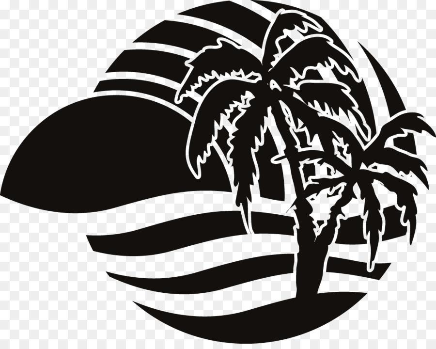 Siluet Pantai Logo Gambar Png