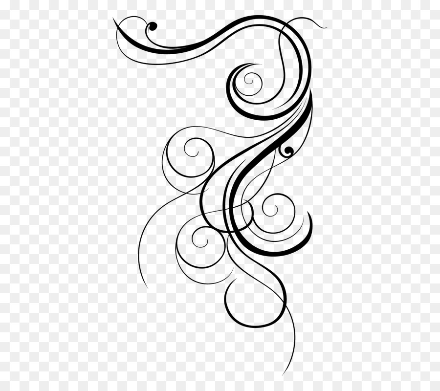 Ornamen Desain Bunga Hitam Dan Putih Gambar Png