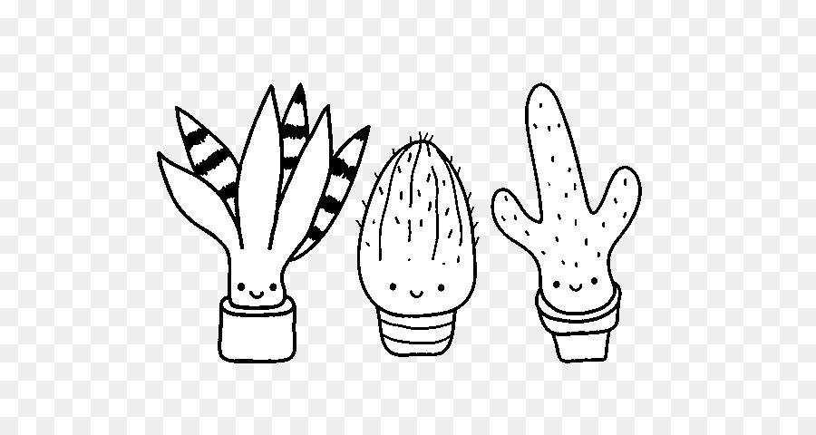 Buku Mewarnai Kaktus Saguaro Gambar Png