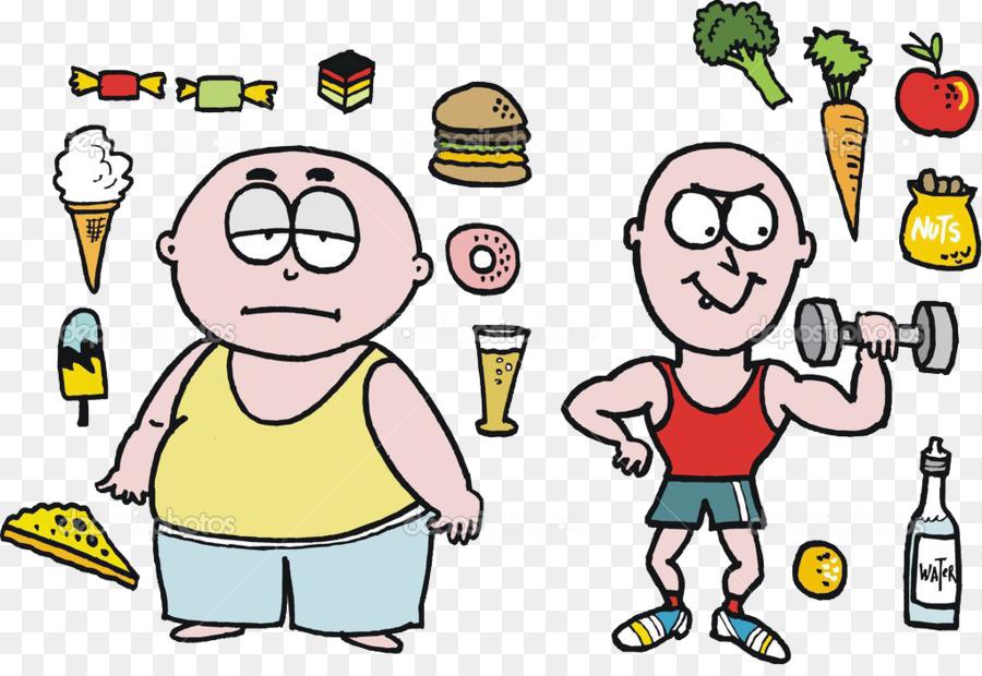 Makanan Junk Kartun Diet Sehat Gambar Png