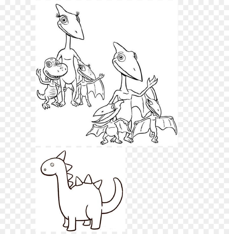 Kereta Buku Mewarnai Dinosaurus Gambar Png