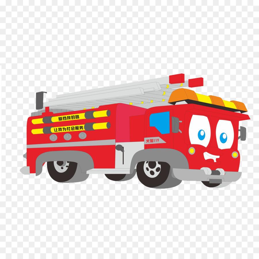 Mobil Pemadam Kebakaran Truk Gambar Png