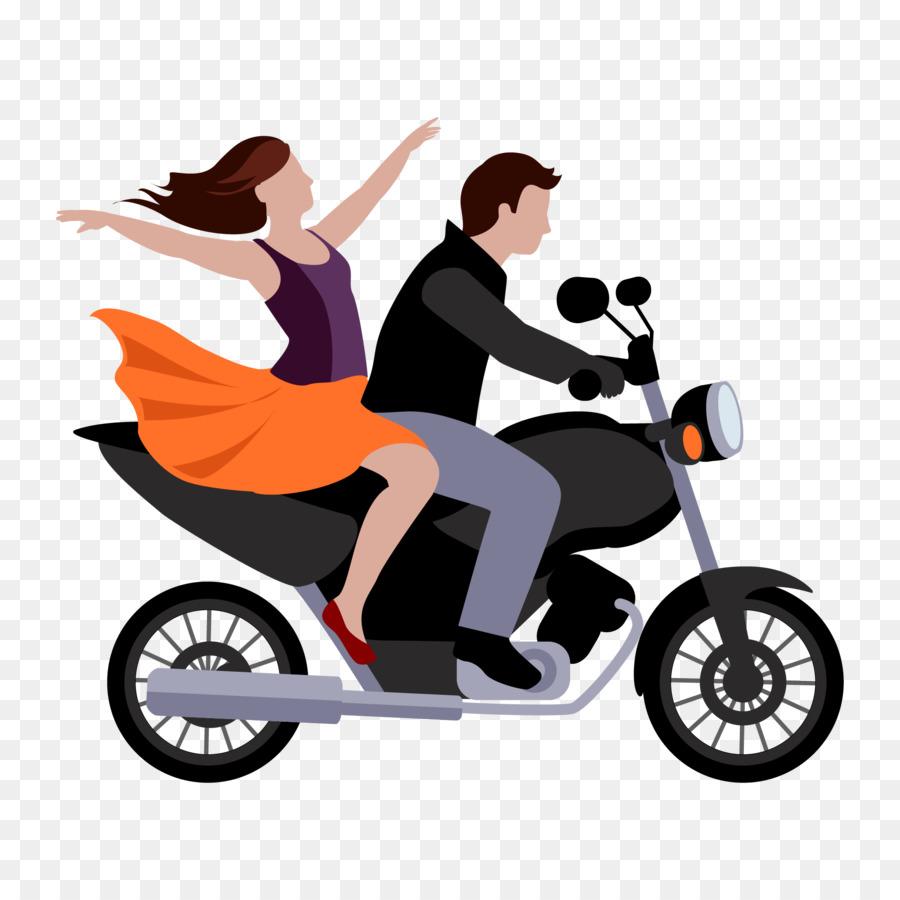 Gambar Kartun Orang Naik Sepeda Motor Galeriotto