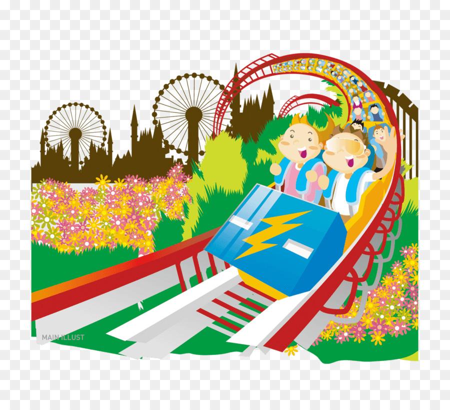 Gambar Ilustrasi Taman Bermain Bermain Anak Taman Hiburan Kartun Gambar Png