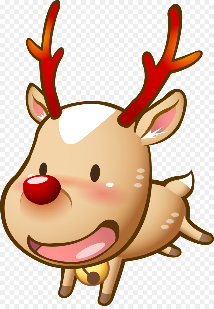 Rusa Hari Natal Kartun Gambar Png