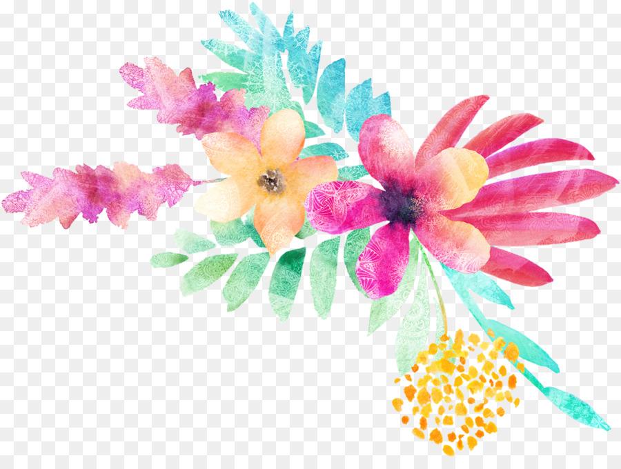 Desain Bunga Lukisan Cat Air Cat Air Bunga Gambar Png