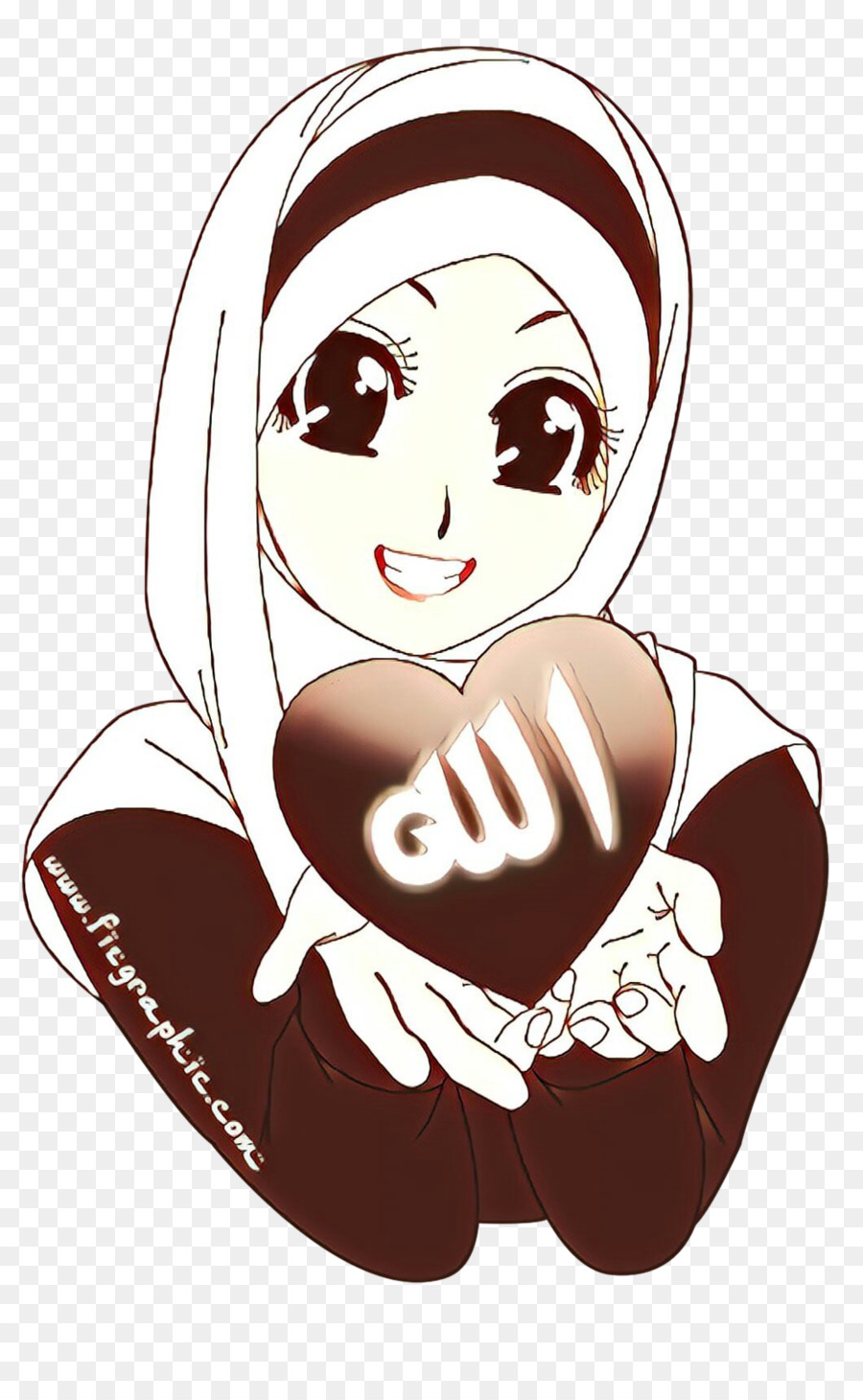 Quran Jilbab Kartun Gambar Png