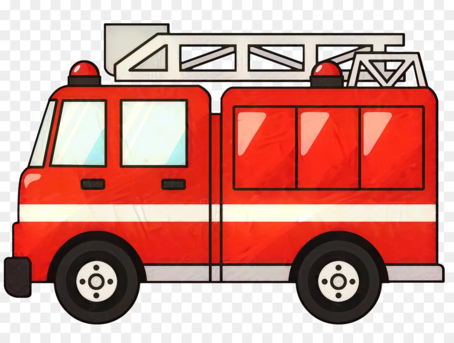 Pemadam Kebakaran Mobil Kartun Gambar Png