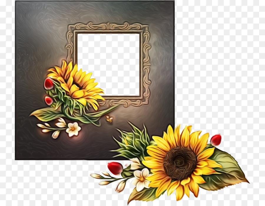 Umum Bunga Matahari Lukisan Desain Bunga Gambar Png