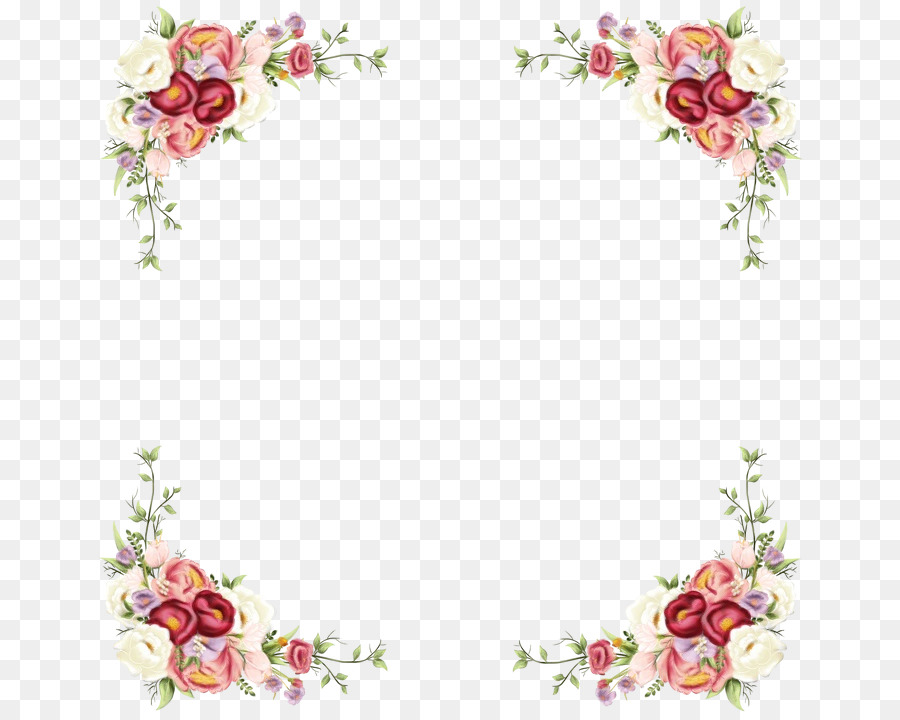 Undangan Pernikahan, Bingkai Foto, Desain Bunga gambar png