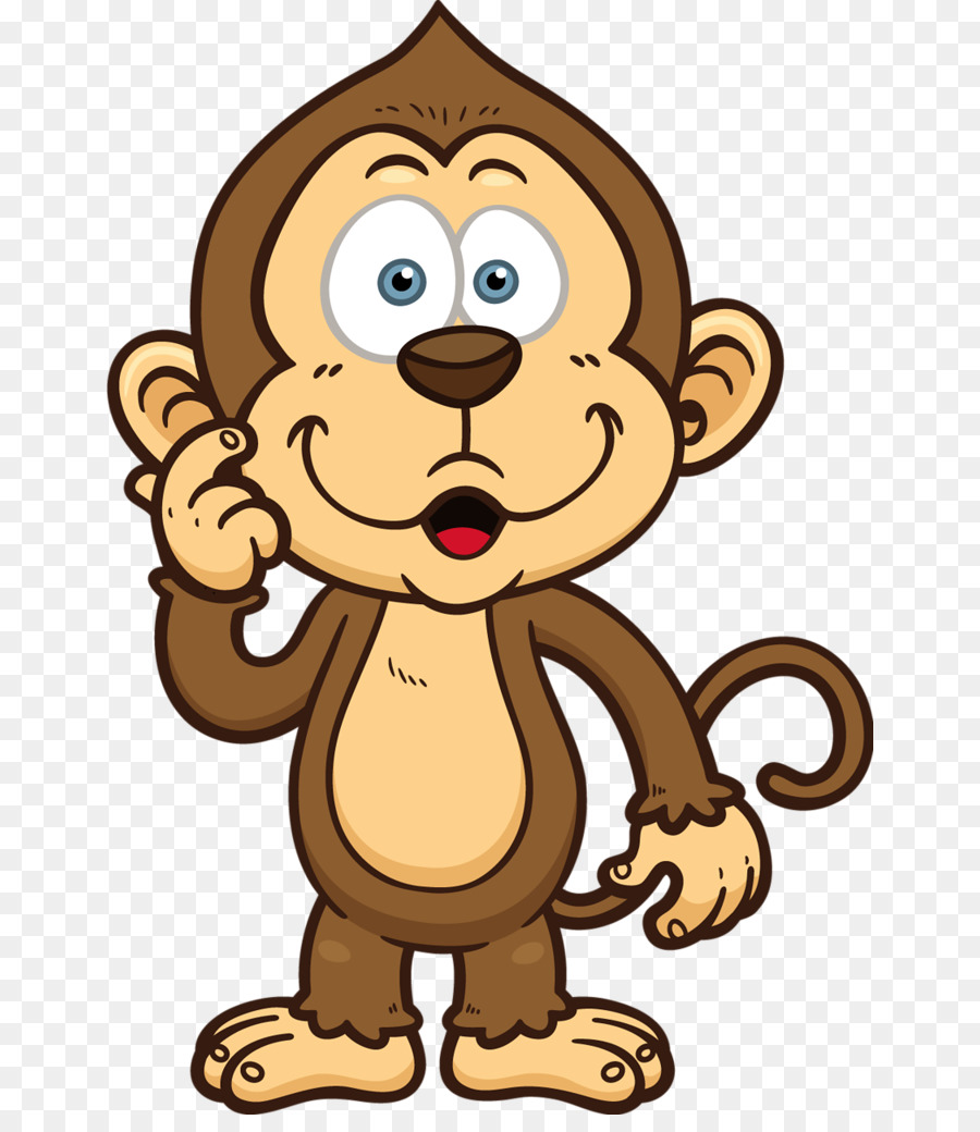 Gambar Monyet Animasi Png Monyet Kartun Gambar Gambar Png