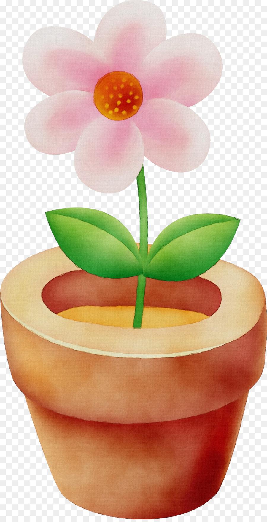Pot Bunga Bunga Buku Mewarnai Gambar Png