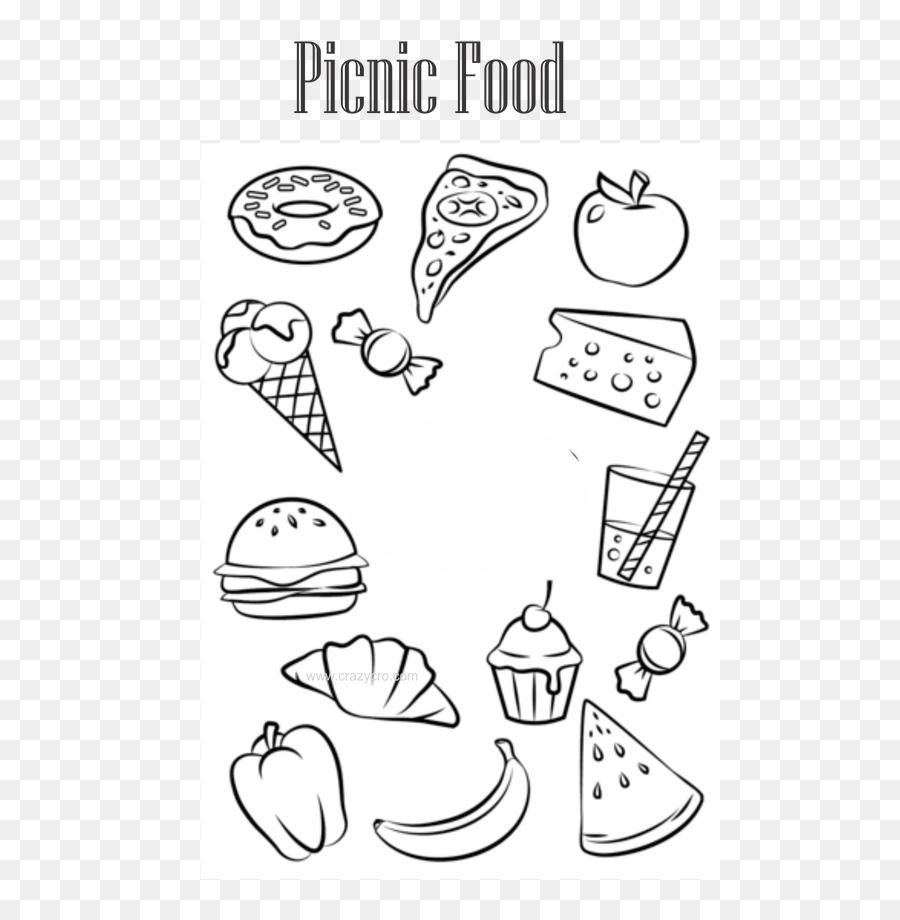 Makanan Junk Buku Mewarnai Pewarna Makanan Gambar Png