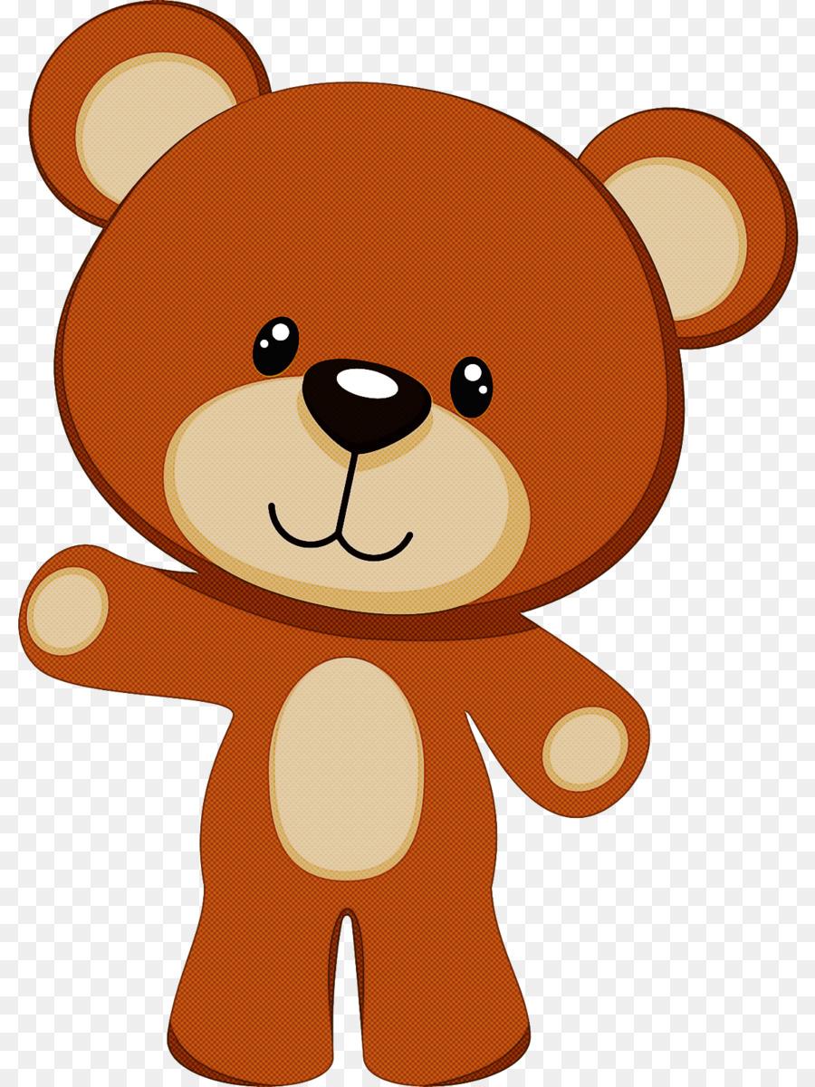 Boneka Beruang Kartun Coklat Gambar Png