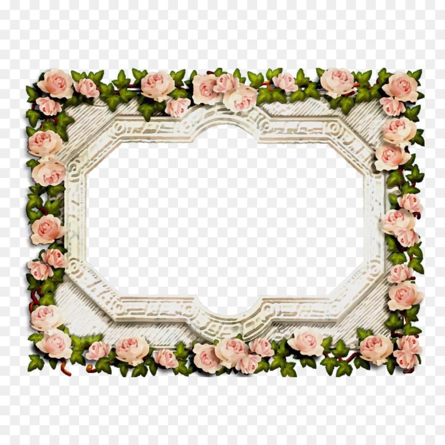 Desain Bunga, Bingkai Foto, Bunga Potong gambar png